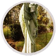 New Zealand Angel Round Beach Towel