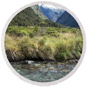 New Zealand Landscape 2 Round Beach Towel