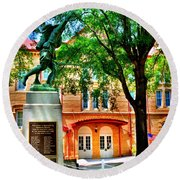 Newberry Opera House Round Beach Towel
