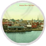 Newburgh Steamers Ferrys And River - 15 Round Beach Towel