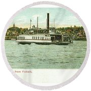 Newburgh Steamers Ferrys And River - 24 Round Beach Towel
