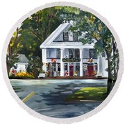 Newbury Village Store Round Beach Towel