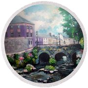 Newcastle West Co Limerick Round Beach Towel