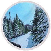 Newfoundland In Labrador II Round Beach Towel