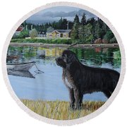 Newfoundland In Labrador Round Beach Towel