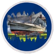 Newport Coast Guard Station Round Beach Towel