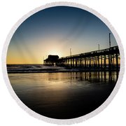 Newport Pier Round Beach Towel