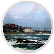 Newport Rhoad Island  Round Beach Towel by Don Wright