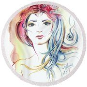 News From Outer Space Round Beach Towel