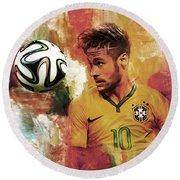 Neymar 05d Round Beach Towel