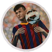 Neymar Round Beach Towel