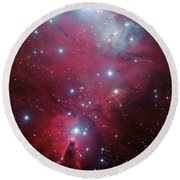 Round Beach Towel featuring the photograph Ngc 2264 And The Christmas Tree Star Cluster by Eso