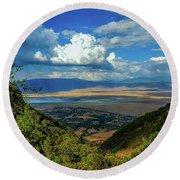 Ngorongoro Crater Round Beach Towel