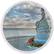 New Hampshire Marine Memorial Round Beach Towel