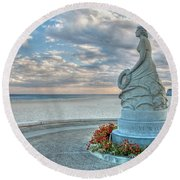 New Hampshire Marine Memorial Round Beach Towel