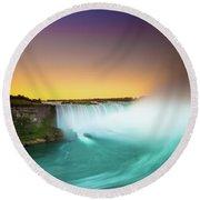 Niagara Falls  Round Beach Towel by Mariusz Czajkowski