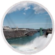 Niagara Falls New York Round Beach Towel