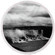 Niagara Falls - Small Falls Round Beach Towel