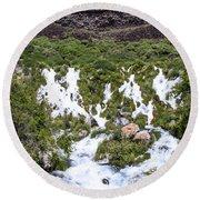 Niagra Springs Idaho Journey Landscape Photography By Kaylyn Franks  Round Beach Towel