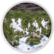 Niagra Springs Idaho Journey Landscape Photography By Kaylyn Franks  Round Beach Towel