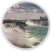 Niagra Waterfalls Round Beach Towel