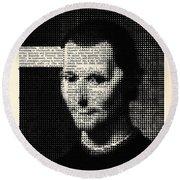 Niccolo  Machiavelli Round Beach Towel
