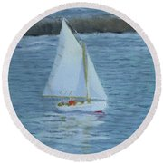 Nice Day For A Sail Round Beach Towel