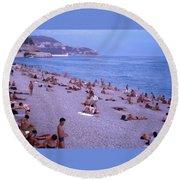 Nice, France Round Beach Towel