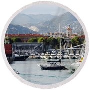 Nice Harbour Life Round Beach Towel