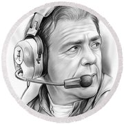 Nick Saban Round Beach Towel