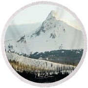 Nick's Signature Winterscape Round Beach Towel