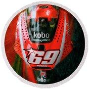 Nicky Hayden's Motogp Ducati Round Beach Towel