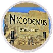 Nicodemus, 1877 Round Beach Towel