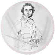 Nicolo Paganini (1782-1840) Round Beach Towel
