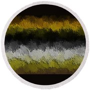 Round Beach Towel featuring the digital art Nidanaax-flat by Jeff Iverson