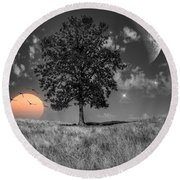 Night And Day Round Beach Towel
