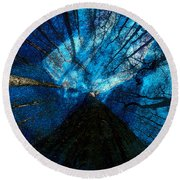 Round Beach Towel featuring the painting Night Angel by David Lee Thompson
