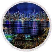 Night Beauty Round Beach Towel