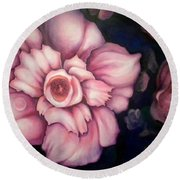 Night Blooms Round Beach Towel
