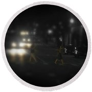 Night Crossing Round Beach Towel