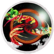 Night Dragon Round Beach Towel