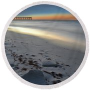 Night Draws Near Round Beach Towel