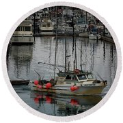 Night Drifter Round Beach Towel by Randy Hall