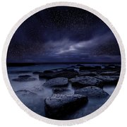Night Enigma Round Beach Towel