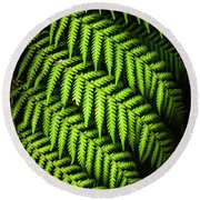 Night Forest Frond Round Beach Towel