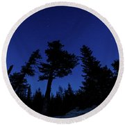 Round Beach Towel featuring the photograph Night Giants by Margaret Pitcher