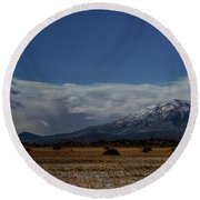 Round Beach Towel featuring the photograph Night In The Alvord Desert by Cat Connor