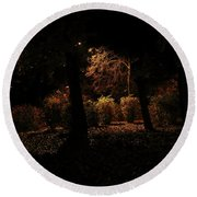 Night In The Park  Round Beach Towel by Ana Mireles