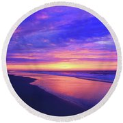 Night Is Over Round Beach Towel