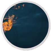 Night Light Round Beach Towel